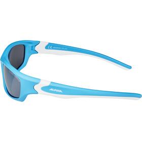 Alpina Flexxy Teen Glasses Kids, cyan-white